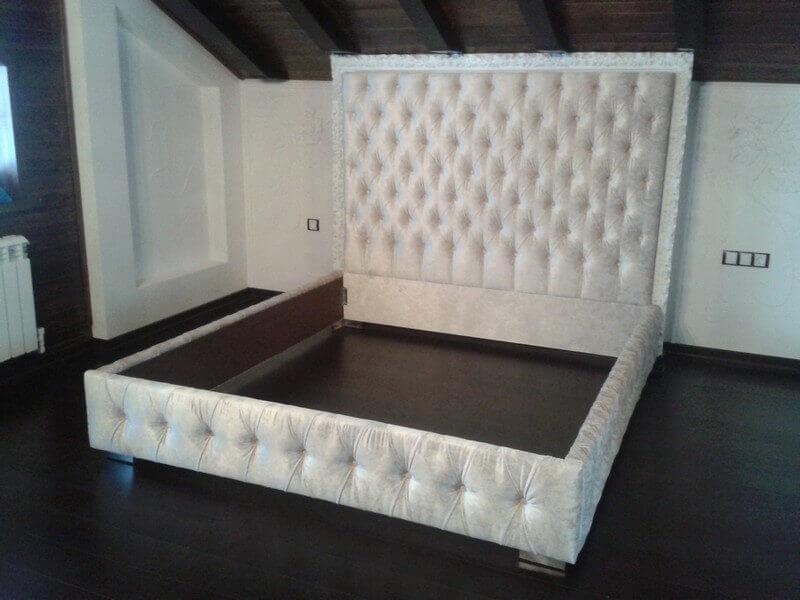 Перетяжка мебели своими руками кровать